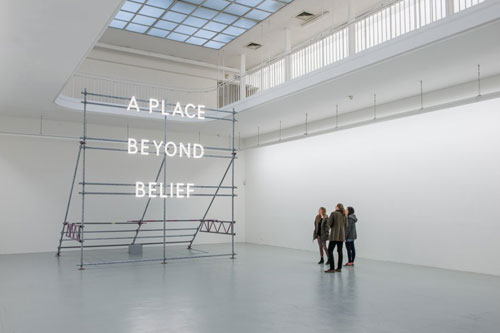 Nathan Coley. A Place Beyond Belief (Freiburg), 2013.