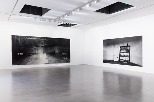 Hannah Collins. Installation view (1), Camden Arts Centre, London. Photograph: Mark Blower.