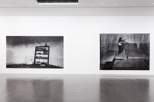 Hannah Collins. Installation view (2), Camden Arts Centre, London. Photograph: Mark Blower.