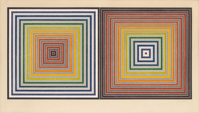 Frank Stella. Double Gray Scramble, 1973. Screenprint on Arches 88 mould-made paper, 59.4 x 119.5 cm (23.4 x 47 in). Courtesy of Waddington Custot.