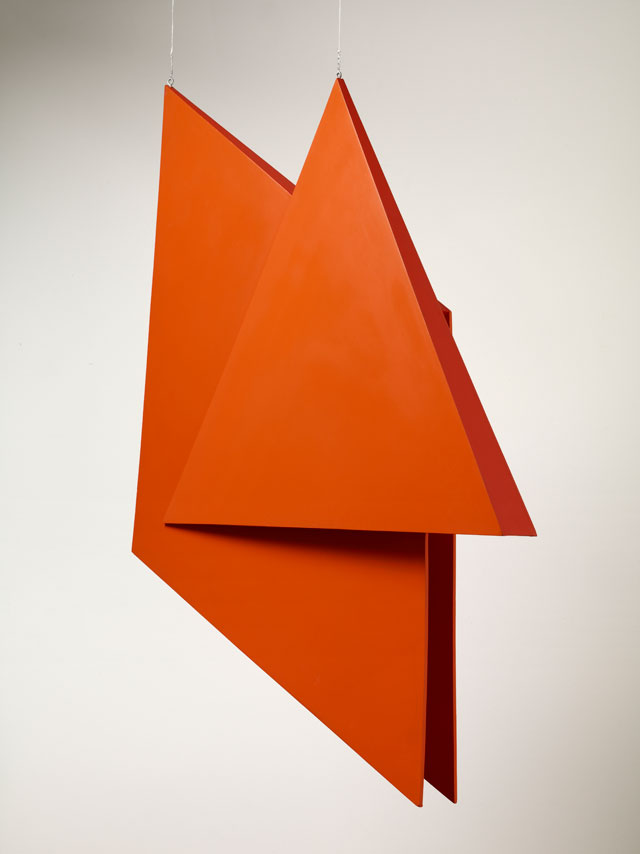 Hélio Oiticica. V6 Spatial Relief, Red, (V6 Relevo especial, vermêlho), 1959-1991. Painted wood, 98.4 x 78.1 x 10.2 cm (38.75 x 30.75 x 4 in). Courtesy of Waddington Custot.