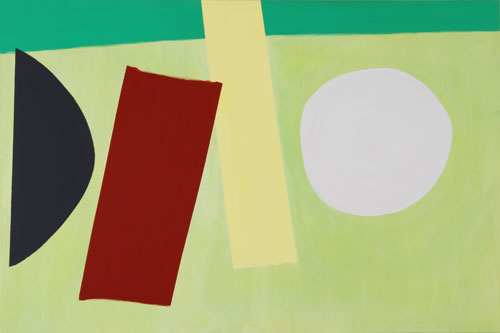 John McLean. <em>Acrobat</em>, 2011. Acrylic on canvas, 120 x 180 cm. © the artist, images courtesy Poussin Gallery.
