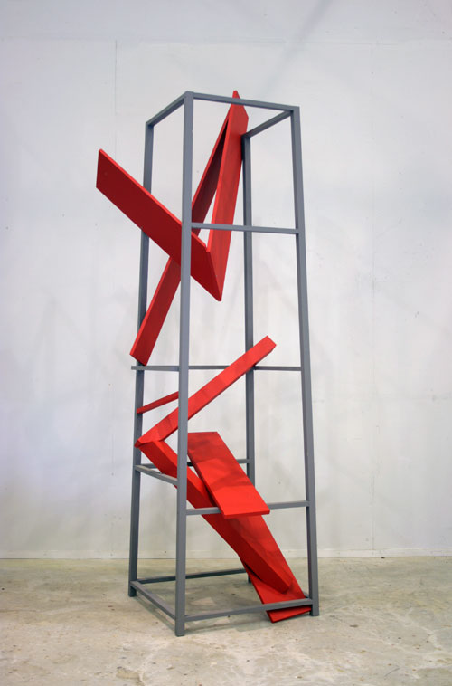 Willard Boepple. <em>Two</em>. Painted wood, height 202 cm.  &copy; the artist, images courtesy Poussin Gallery.