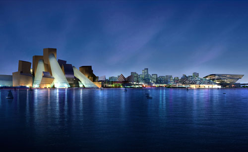 Guggenheim Abu Dhabi. Photograph courtesy Gehry Partners, LLP.