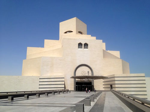 The Museum of Islamic Art in the Qatari capital Doha, designed by architect I. M. Pei.