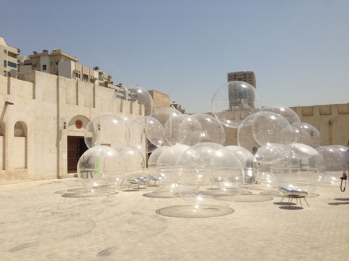 SANAA (Kazuyo Sejima and Ryue Nishizawa), Bubble, 2013. Installation view, commissioned by Sharjah Art Foundation, image courtesy of Sharjah Art Foundation.