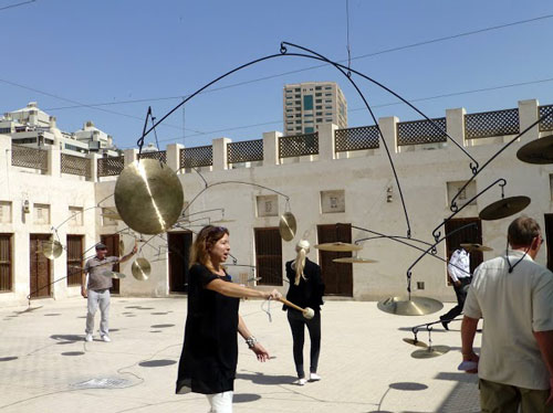 One of the courtyard installations at Sharjah Biennial.