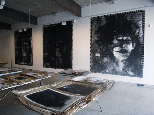 Bernhard Sachs. Installation view. <em>Unseen:Studium. Fragments from Projects, </em>1977–2009. Melbourne Art Rooms, Melbourne, 2009. Photo James Widdowson.