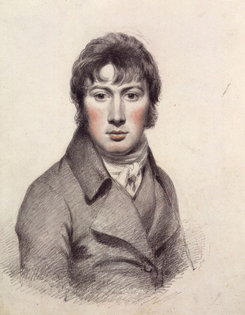 John Constable. Self-portrait, c1799-1804. Pencil and black chalk heightened with white and red chalk. © National Portrait Gallery, London