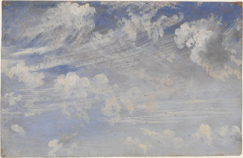 John Constable. Study of cirrus clouds, c.1821-22. Oil on paper. © Victoria and Albert Museum, London.