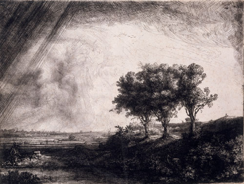 Rembrandt. The Three Trees, 1643. Etching. © Victoria and Albert Museum, London.