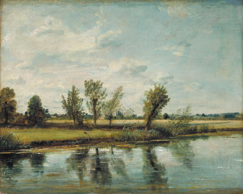 John Constable. Watermeadows near Salisbury, 1829/30. Oil on canvas. © Victoria and Albert Museum, London.