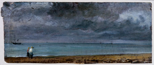 John Constable. Brighton Beach, 1824. Oil on paper. © Victoria and Albert Museum, London.