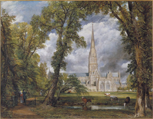 John Constable. Salisbury Cathedral from the Bishop's Ground, 1823. Oil on canvas. © Victoria and Albert Museum, London.
