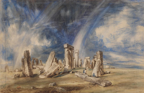 John Constable. Stonehenge, c1835. Watercolour. © Victoria and Albert Museum, London.