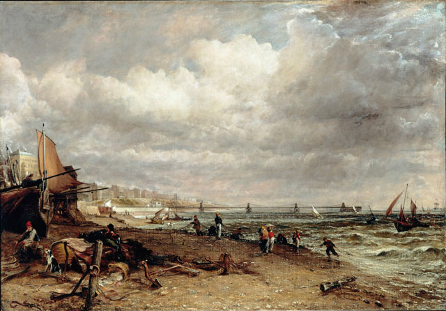 John Constable. The Chain Pier, Brighton, 1826-7. Oil on canvas. Lent by Tate: Purchased 1950.