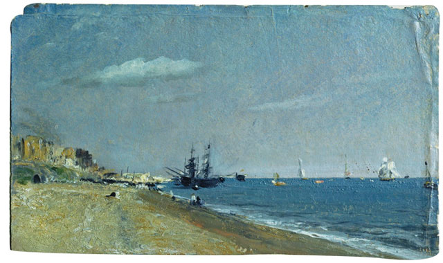 John Constable. Brighton Beach With Colliers,1824. © Victoria and Albert Museum, London.