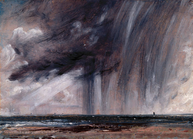 John Constable. Rainstorm over the Sea, c1824-28. Oil on paper laid on canvas, 23.50 x 32.60 cm. Given by Isabel Constable, 1888. Photograph © Royal Academy of Arts, London; Photograph: John Hammond.