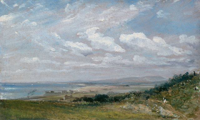 John Constable. Shoreham Bay, near Brighton, 1824. Oil on paper laid down on canvas, 14.9 x 24.9 cm. © The Fitzwilliam Museum, Cambridge.