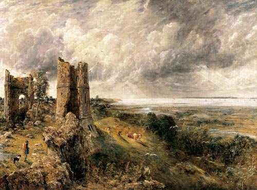 John Constable. <em>Hadleigh Castle</em>, 1829. Oil on canvas 122 x 164.5. Yale Center for British Art.