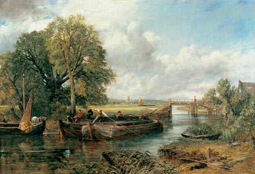 John Constable. <em>View on the Stour near Dedham</em>, 1822. Oil on canvas. 130 x 188 cm. The Huntingdon Library, Art Collections, and Botanical Gardens.