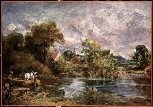 John Constable. <em>The White Horse</em> (full-size sketch), 1818-19. Oil on canvas. 127 x 183 cm. National Gallery of Art, Washington.
