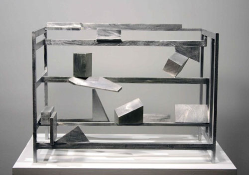 Willard Boepple. Irish Corners, 2007. Aluminium, 63.5 x 63.5 x 48.3 cm © A.P.T Gallery.