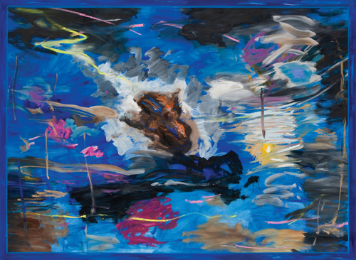 Juan Davila. Untitled, 2012. Oil on canvas, 186 x 253 cm. Courtesy the artist and Kalli Rolfe Contemporary Art, Melbourne.