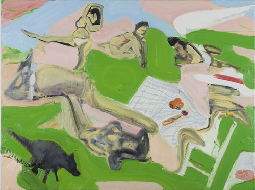 Daniel Coombs. Le Picnic, 2014. Oil on canvas, 120 x 90 cm. © the artist.