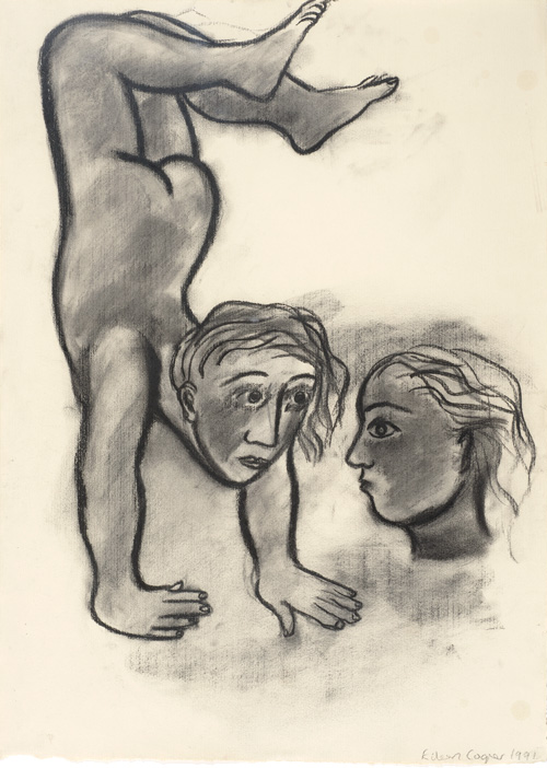 Eileen Cooper. Woman Rebuilding Herself IV, 1991. Charcoal on paper, 66 x 48.2 cm.