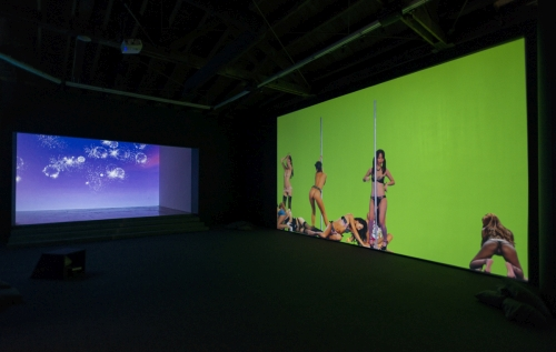 Petra Cortright. Installation view of NIKI LUCY LOLA VIOLA at DEPART Foundation, Los Angeles, 2015. Medium variable, dimensions variable.