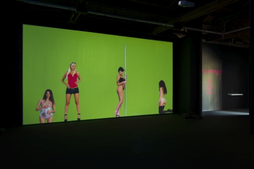 Petra Cortright. Installation view (2) of NIKI LUCY LOLA VIOLA at DEPART Foundation, Los Angeles, 2015. Medium variable, dimensions variable.