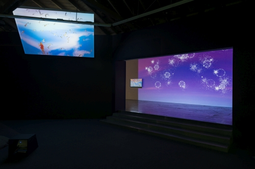 Petra Cortright. Installation view (3) of NIKI LUCY LOLA VIOLA at DEPART Foundation, Los Angeles, 2015. Medium variable, dimensions variable.