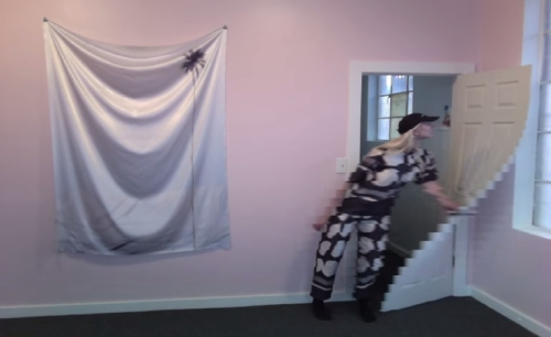 Petra Cortright. Still from Dot Warp With Door (for Stella McCartney), 2014. Webcam video, 2 minutes.
