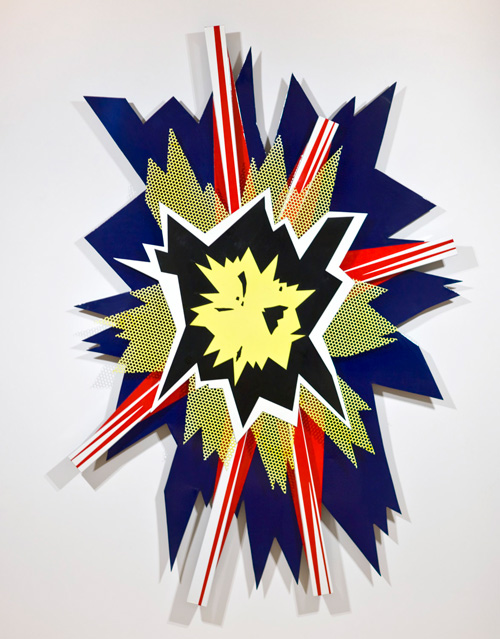 Roy Lichtenstein, <em>Explosion II</em>, 1965. © Estate of Roy Lichtenstein. Courtesy of Gagosian Gallery. Photo credit: Rob McKeever.