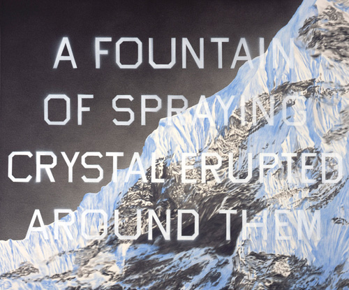 Ed Ruscha, <em>Fountain of Crystal</em>, 2009. © Ed Ruscha. Courtesy of Gagosian Gallery. Photo credit: Paul Ruscha.
