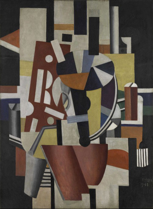 Fernand Léger. Composition (The Typographer). 1918-19. Oil on canvas, 98 1/4 x 72 ¼ in (249.6 x 183.5 cm). Promised Gift from the Leonard A. Lauder Cubist Collection. © 2014 Artists Rights Society (ARS), New York/ADAGP, Paris.