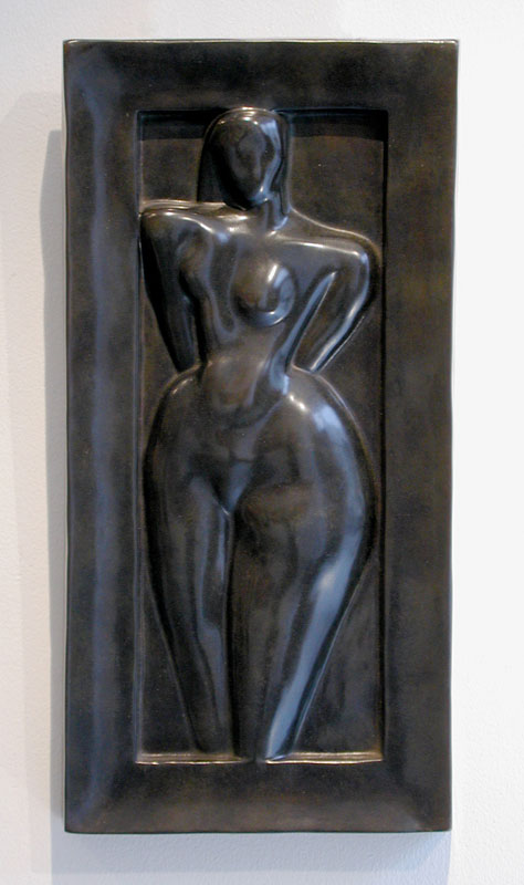 Étienne Béothy (1897-1961). Opus 17 - Femme 1. Bronze relief, 41 x 20 x 3.5 cm (16 x 8 x 1 1/4 in), 1 of 8, with 'Clementi, Meudon. Cire Perdue' foundry mark conceived in 1925.