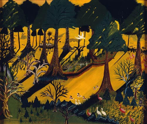 Earl Cunningham. <em>Seminole Everglades,</em> 1945. Oil on masonite. The Metropolitan Museum of Art, Gift of Marilyn L Mennello and Mr Michael A. Mennello, 1997