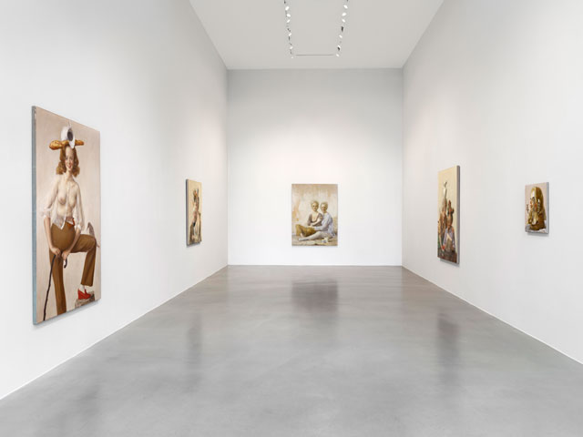 Installation view, John Currin, Sadie Coles HQ, 23 November 2016 – 21 January 2017. Copyright the Artist, Courtesy Sadie Coles HQ, London.