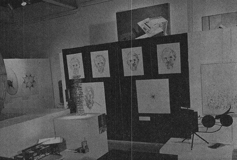 Installation shots of the Cybernetic Serendipity exhibition at the Institute of Contemporary Arts. 'Cybernetic Serendipity'—Getting rid of preconceptions. Studio International, Vol 176, No 905, November 1968, p. 176.
