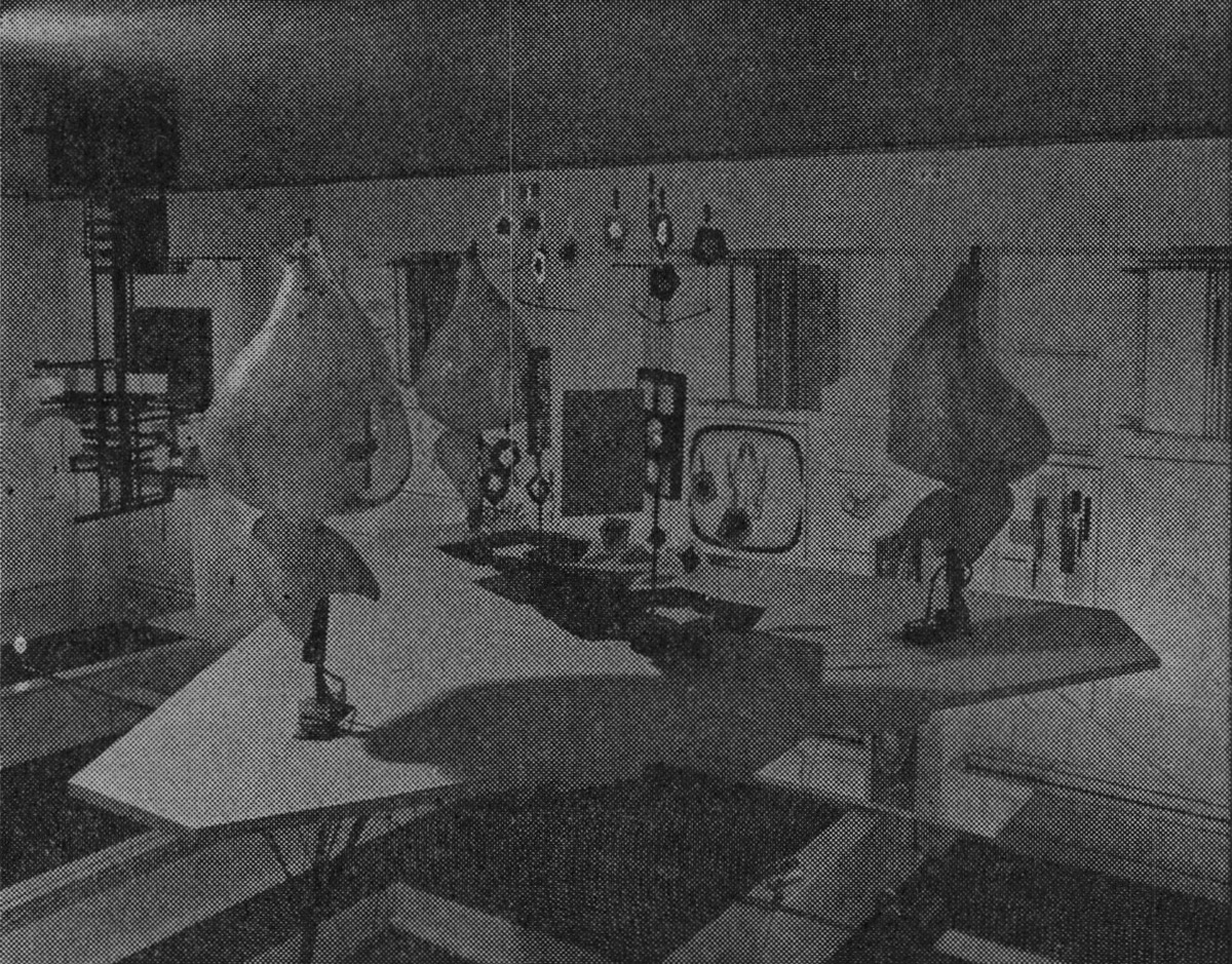 Installation shots of the Cybernetic Serendipity exhibition at the Institute of Contemporary Arts. 'Cybernetic Serendipity'—Getting rid of preconceptions. Studio International, Vol 176, No 905, November 1968, p. 177.