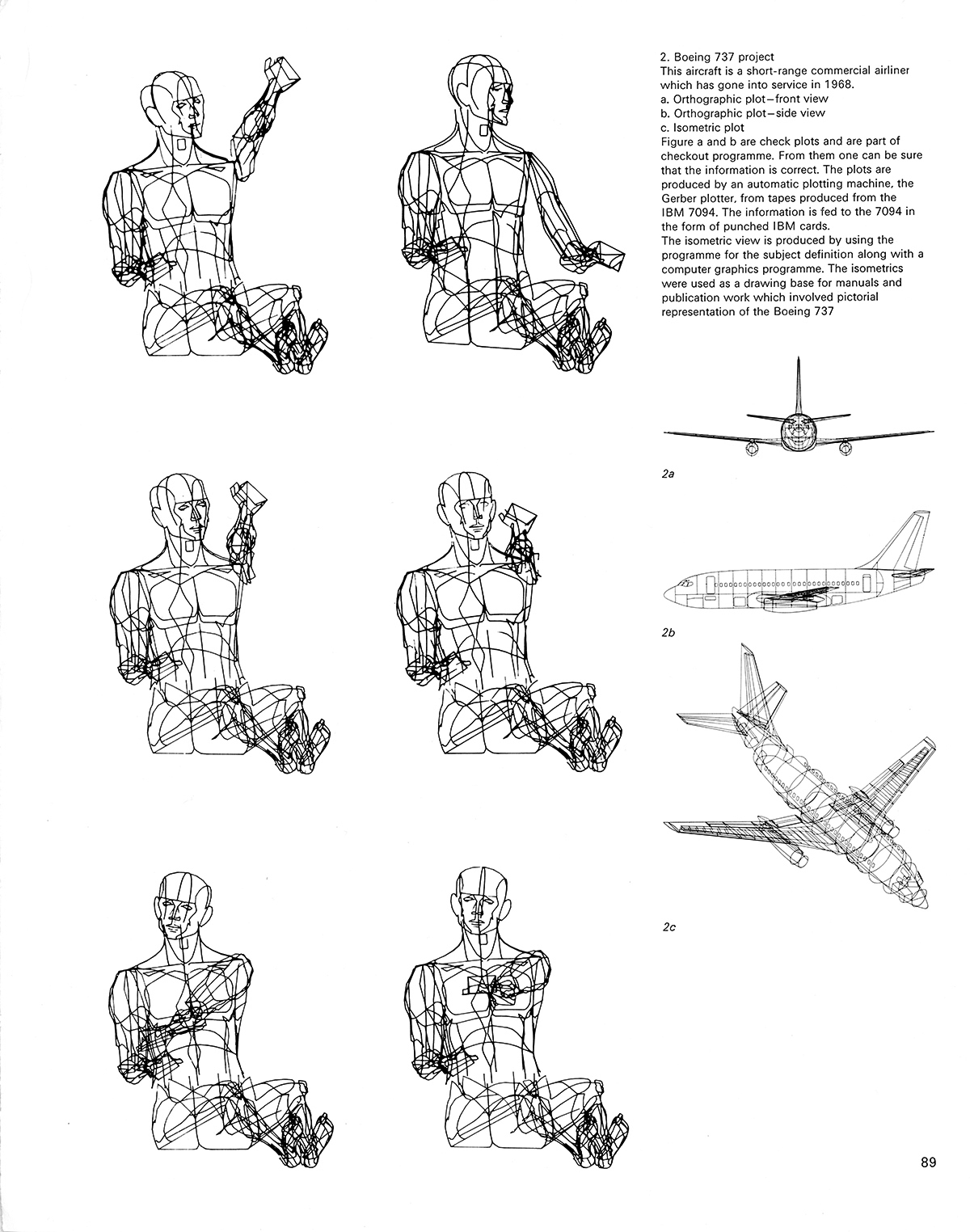 Boeing computer graphics. Cybernetic Serendipity: The Computer and the Arts, Studio International Special Issue, 1968, page 89.