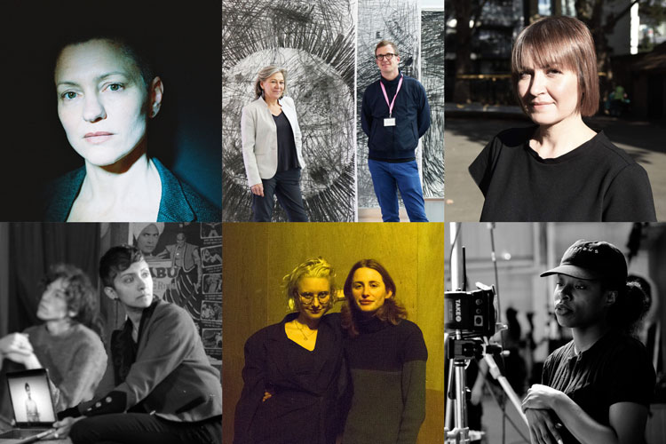 Jenn Nkiru, Project Art Works, Hannah Quinlan and Rosie Hastings, Larissa Sansour, Michelle Williams Gamaker and Andrea Luka Zimmerman. The Film London Jarman Award 2020 shortlist.