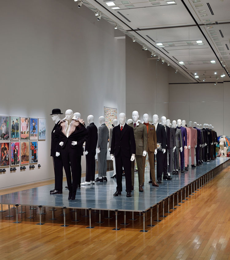 Suits, exhibition view, Dress Code: Are You Playing Fashion? Photo: Naoya Hatakeyama.