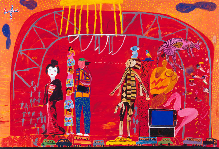 Ken Done. Looking at Australia, 1991. Acrylic on canvas, 205 x 300 cm. © the artist.