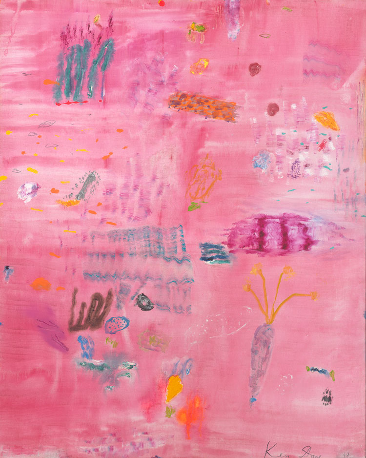 Ken Done. Pink coral head, 2020. Oil and acrylic on linen, 152 x 122 cm. © the artist.