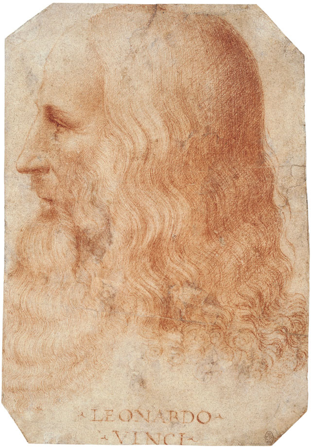 Attributed to Francesco Melzi, A portrait of Leonardo, c1515-18. Royal Collection Trust / © Her Majesty Queen Elizabeth II 2019.