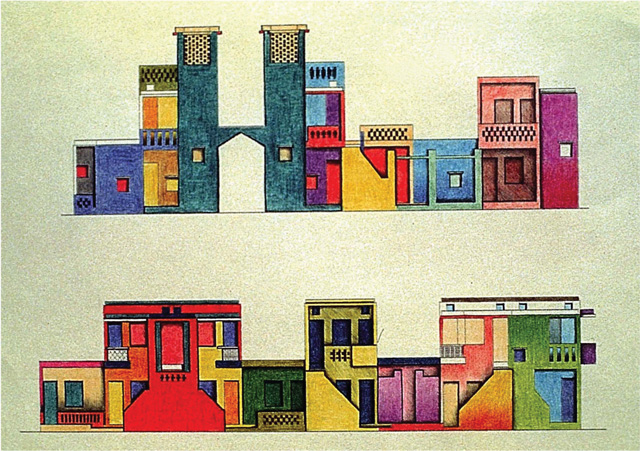 Balkrishna Doshi, Aranya Low Cost Housing (sketch), Indore, 1989. © Vastushilpa Foundation, Ahmedabad.