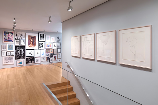 Installation view of Drawn Together Again at The FLAG Art Foundation, 2019. Photo: Steven Probert.